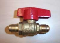 "Ball Valve, 3/8"" Flare Shut Off Valve C05-C07"